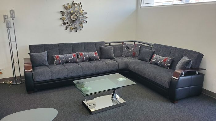 Sectional Sofa With Storage And Bed